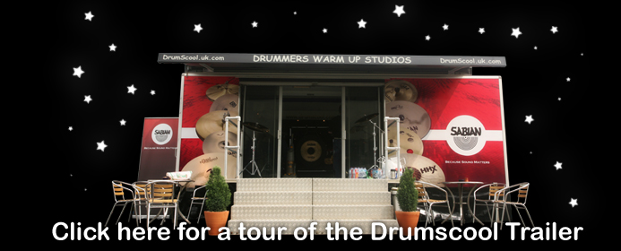 click for a video tour of the mobile drum school at download fest 2007